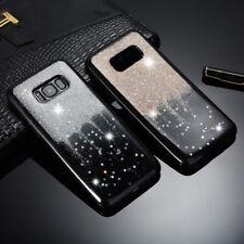 Coque Housse en TPU Silicone Brillant Paillette Pour Samsung Galaxy S7 S8 S9 S10