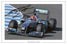 MICHAEL SCHUMACHER MERCEDES F1 SIGNED PHOTO PRINT 2011