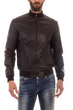 Armani Jeans AJ Mantel Jacke % Leder Herren MADE IN ITALY Braun 6X6B026L00Z-767