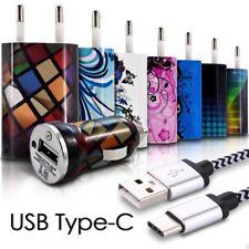 Pack 3 en 1 Chargeur Secteur Voiture Câble USB Type C pour Sony Xperia XZ / XZ1