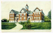 El Dorado KS Central High School 1908 DB Post Card