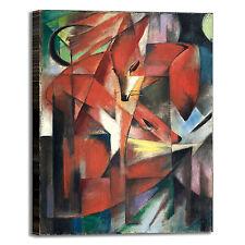 Franz Marc le volpi design quadro stampa tela dipinto telaio arredo casa