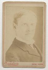 1885 GOODWIN ACTOR NEWSBOY CABINET PHOTO, PRESENTER SILVER BASEBALL TO CAP ANSON