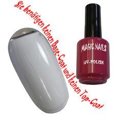 UV Polish Gel Soak Off Gel Polishgel Nail Art Nagellack Farbe  # White-Satin
