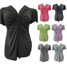 NEW LADIES PLUS SIZE GATHERING TUNIC TOPS WOMENS MINI TUNIC DRESS TOPS 16-32