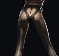 Corazon - Collants Fiore sexy noir fantaisie femme coeur ouvert 20 Den T2 T3 T4