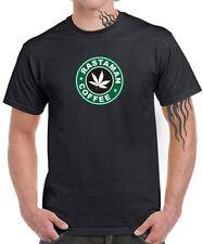 Fun T-Shirt Rasta on Coffee I love drugs Café Weed Ganja Cannabis Satire Chanvre