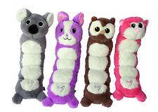 Gor Pets Hugs Tums Dog Fetch Throw Toy Soft Plush Faux Fur Puppy Squeaker