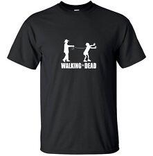 Walking the Dead - Funny Zombie Walking the Dead T-Shirt Black White Custom Size