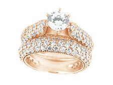 2.50Ct Round Cut Diamond Bridal Engagement Ring Wedding Band Set Solid 18k Gold