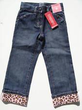 Gymboree NWT KITTY GLAMOUR Jeans Pant 3 5 SLIM 3T Denim Leopard Print Cuff