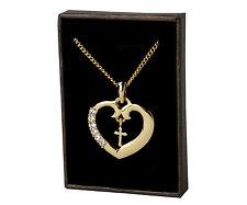 18k Oro Plateado Collar de Religioso - CRUZ - Regalos Para las Mujeres