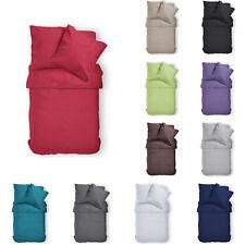 Bettwäsche 135 x 200 cm Baumwolle Renforce Bettgarnitur Bettbezug Uni 2tlg 4tlg