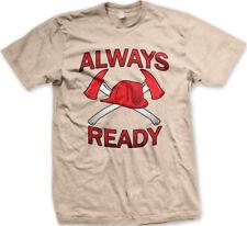 Always Ready Firemen Firefighter Helmet Axes Axe Fire Dept Fight Men's T-Shirt