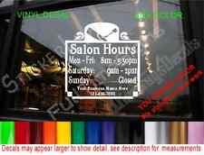 CUSTOM Storefront Door DECAL Hours Store Sign salon hair nails aesthetics barber