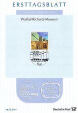 BRD 2011: Wallraff-Richartz-Museum di Colonia! solo foglio tag del N. 2866! 1a!