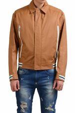 Salvatore Ferragamo Men's Brown Full Zip Windbreaker Size M L XL 2XL