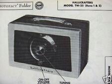 HALLICRAFTERS TW-25 RADIO PHOTOFACT PHOTOFACTS