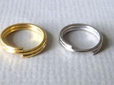 100 / 300 Spaltringe Bindering Biegering 5 6 8 mm gold silber Metall 0,7 mm 2243