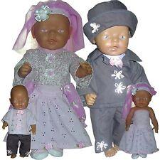 HOCHZEIT Baby Puppen Schnittmuster 43cm 3-4tlg (3-4 €/Stk)
