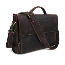 """Vintage Men Genuine Leather 13"""" Laptop Briefcase Handbag Messenger Shoulder Bag"""