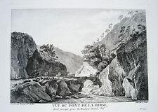 Birs la Birse Ufer Schweiz  Kupferstich Zurlauben 1780 selten!!