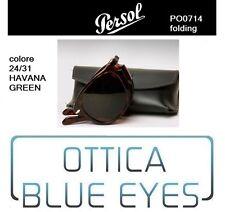 Occhiali da Sole Persol PO 0714 714 24/31 Folding Havana McQueen Sunglasses
