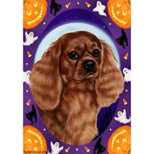 Cavalier King Charles Spaniel Ruby Halloween Howls Flag