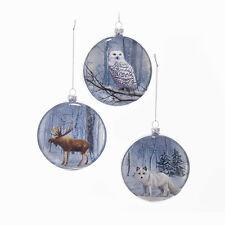 Wildlife Winter Scene Flat Disc Ornament