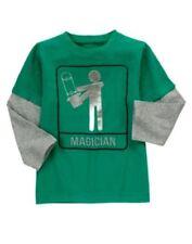 GYMBOREE Mr. MAGICIAN  GREEN w/ MAGICIAN L/S TEE 3 4 5 6 8 10 12 NWT