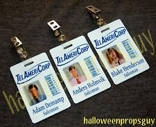 Workaholics TelAmeriCorp ID Card Replica w/ Clip Made in USA Adam, Blake or Ders