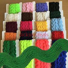 Jumbo Large Ric Rac Zig Zag Braid Trim Premium Quality 100% Polyester 20 Colours