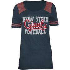 New York Giants NFL Women's Tri-Blend Navy Short Sleeve Team T-Shirts: M-L