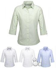 Ladies 3/4 Sleeve Shirt Size 6 8 10 12 14 16 18 20 22 24 Stripe Business New!
