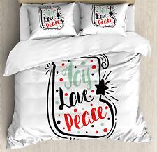 Joy Duvet Cover Set with Pillow Shams Abstract Christmas Sock Print