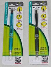 2 Zebra Frisha Automatic Mechanical Lead Pencil Rubber Grip 0.7 mm Self Advance