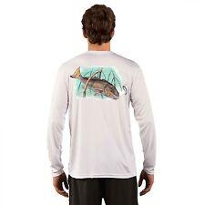 Long Sleeve Fishing Shirt, UV protection, Micro Fiber, Sublimation, Redfish