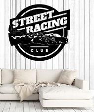 Wall Vinyl Decal Street Racing Rider Extreme Sports Garage Decor z4630
