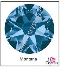 MONTANA Blue HOTFIX Swarovski Flatback Crystals 6ss 8ss 10ss 12ss 16ss 20ss
