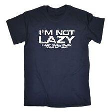 No sólo perezoso realmente disfruto haciendo nada T-Shirt Sofá Gimnasio Regalo Padres Día