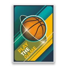 2 x Basketball Vinyl Stickers Sports #7322