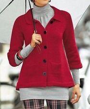 Vivien Caron Strickjacke Neu Gr.XS 32/34 Rot Damen Pullover m. Wolle Pulli