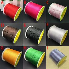 DIY 1.5mm Shamballa Satin Rattail Thread Nylon Cord Kumihimo Macrame Beading