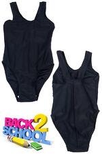 Only Swim Girls Plain Elastane School Swimming Costume Ladies Swimwear Swimsuit