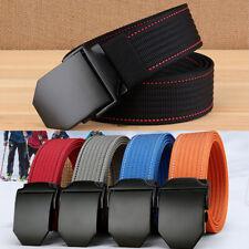 "1.5"" Mens Nylon Web Belt Durable Metal Buckle Casual Sports Waist Trousers Belts"