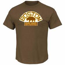 NHL Eishockey T-Shirt BOSTON BRUINS Vintage Tek Patch Logo von Majestic