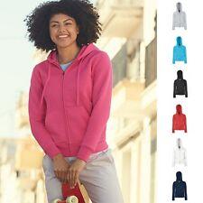 1a Fruit of the loom Damen Kapuzenjacke Lady Hooded Jacke Sweatshirt Sweat 70/30