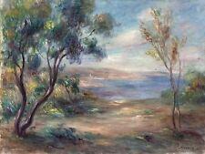 Landscape trees river by Renoir Tile Mural Kitchen Backsplash Marble Ceramic