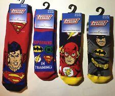 SUPERMAN BATMAN JUSTICE LEAGUE Boys 5-Pack Low Cut No Show Socks Kids Ages 4-16