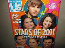 Us STARS OF 2011 4 GIANT POSTERS Justin Bieber Emma Watson Taylor Lautner Zac Ef